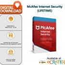 [Lifetime License] McAfee INTERNET SECURITY: Award Winning AntiVirus & Internet Protection [1 PC]