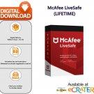 [Lifetime License] McAfee LIVESAFE: Award Winning AntiVirus, Spyware & Internet Protection [1 PC]