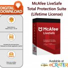 McAfee LIVESAFE [Lifetime License | 3 MAC]: Anti-Virus, Internet Security & System Cleaner Suite