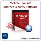 McAfee LIVESAFE [Lifetime, 2 Devices]: Award Winning AntiVirus & Internet Security Software