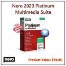 Nero Platinum 2020 [Lifetime, 1 PC]: Video Editor, Converter, Disc Burner & Multimedia Suite for PC