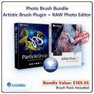 Corel Photo Brush Bundle EXTENDED: Artistic Brush Plugin & RAW Photo Editor for PC & macOS