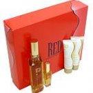 RED by Giorgio Beverly Hills - EDT SPRAY 3 OZ & BODY LOTION 1.6 OZ & SHOWER GEL 1 (W)