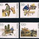 Azores 406-409 MNH set Professions 1992 CV 3.20 (A0289)+