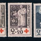 Finland B12-14 MLH set Finnish Red Cross 1933  CV 5.50 (F0096)+