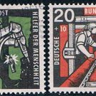Germany B356-59 Used set Miners 1957 CV 21.00 (GI0679P199)+