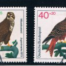 Germany B496-99 Used set Birds of prey (GI0242P47)+