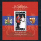 Gibraltar 1283 MNH SS Marriage of Prince William 2011 CV 12.00 (G0331)+