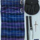Mens Scottish 7 (Seven) Piece Casual Kilt Outfit with Sporran, Pride of Scotland