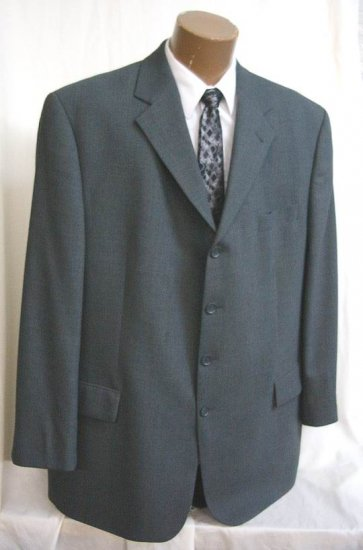 Baracuta Soft 4 button Grey Gray Sport Coat Blazer 48 L tall NEW