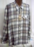 XXL Big Tall Cotton flannel long sleeve casual Shirt 2X 18+ NWT New #1000