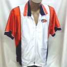 NIKE orange navy white Jacket Top womens Sm 4 6 Like new