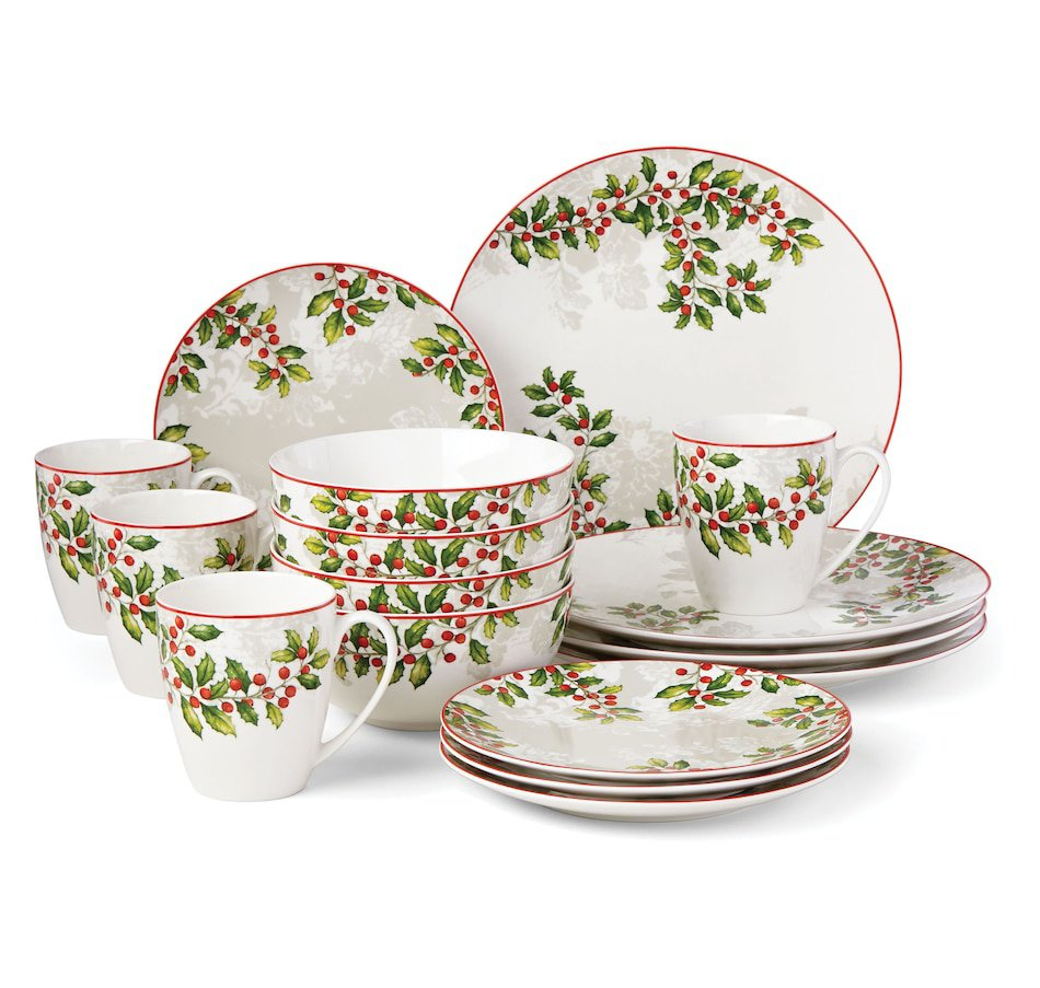 NEW Lenox Holly Knoll 16-Piece Dinnerware Set | Christmas Holiday place settings