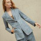Brunello Cucinelli WOMEN'S siz IT 42  US 6 Leather Blazer Jacket m