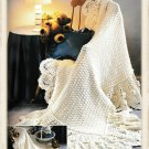 Vintage Crochet Pattern : Victorian Pineapple Afghan - adult & baby sizes (1999)