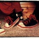 Vintage Crochet Pattern :  Sneaker Slippers (1980s)