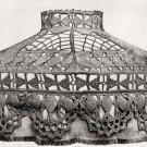 Vintage Crochet Pattern :  Mushroom Lamp Shade (1916)