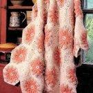 Vintage Crochet Pattern : Poinsettias & Lace Afghan (1988)