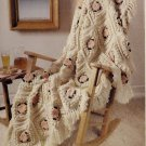 Vintage Crochet Pattern :  Antique Camellia Afghan (1988)