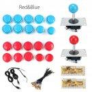 Arcade Game DIY Kits 20 x Push Buttons + 2 x Joysticks + 2 x USB Encoder Board