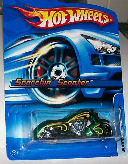 Hot Wheels 2006 #183 Scorchin' Scooter green