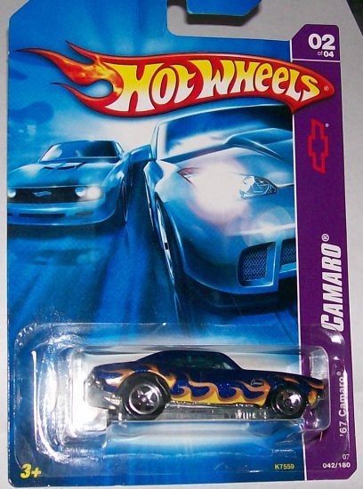 "Hot Wheels 2007 ""67 CAMARO"" NAVY BLUE #42/180 2OF4"