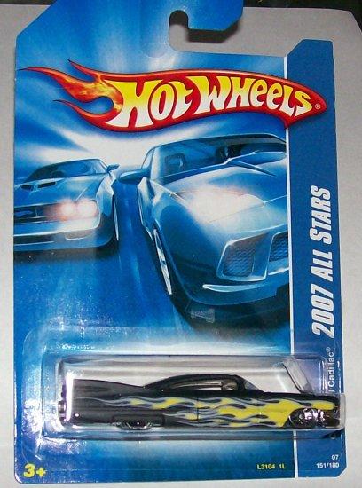 Hot Wheels 2007 ALL STARS CUSTOM 59 CADILLAC BLK