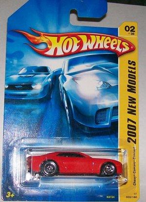 Hot Wheels 2007 NEW MODELS #2 CAMARO CONCEPT RED W/HTF 5S RIMS