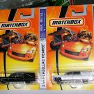 MATCHBOX 2007 MBX METAL #57, #30 1963 HEARSE  1 BLK, & 1 WHITE