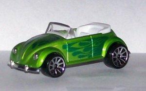 HOT WHEELS 2007 #167 MYSTERY CAR VW BUG CONV. GREEN