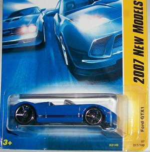 Hot Wheels 2007 NEW MODELS #17 FORD GTX-1 BLUE