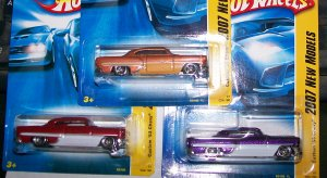 "Hot Wheels 2007 NEW MODELS #34 ""CUSTOM 53 CHEVY"" 3 CAR LOT"