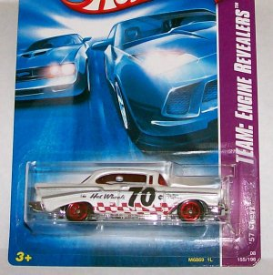 "HOT WHEELS 2008 ""NEW"" TEAM ENG. REV. "" 57 CHEVY"""