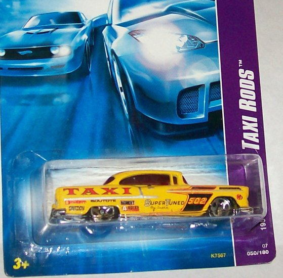 """HOT WHEELS 2007 TAXI RODS """"1955 CHEVY BEL AIR"""""""