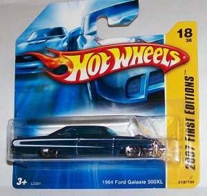 "HOT WHEELS 2007 FE #18 ""64 FORD GALAXIE 500XL"" BLUE"