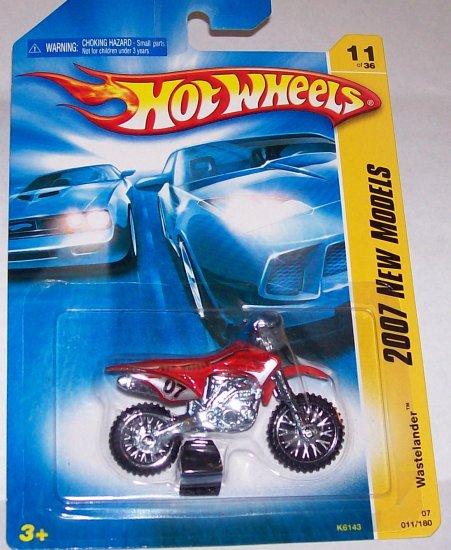 "Hot Wheels 2007 NEW MODELS #11 ""WASTELANDER"" RED"