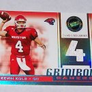 "PRESS PASS 2007 ""KEVIN KOLB"" #'D 20/50 GRIDIRON GAMERS JERSEY CARD"