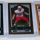 "2007 TOPPS DPP 3 CARD LOT OF ROOKIE ""ADAM CARRIKER"" 2 CHROMES 1 REG."