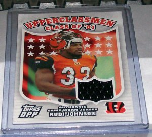 "TOPPS DRAFT PICKS 2007 UPPERCLASSMAN JERSEY CARD ""RUDI JOHNSON UC-RJ"