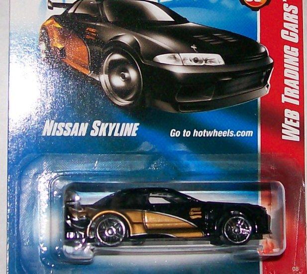 "Hot Wheels 2008 WEB TRADING CARD ""NISSAN SKYLINE"" #81"