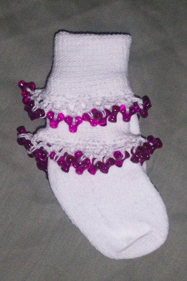 Fancy Beaded Socks nfant size 6-12 months