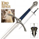The Lord of the Rings Glamdring Sword free wooden stand