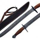 Custom Made Damascus Viking Sword