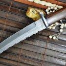 Damascus Hunting Tanto Blade Knife