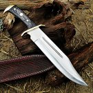 Damascus Outer Ridge Bowie Hunting Knife
