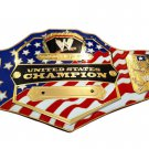 UNITED STATES CHAMPION FLAG WRESTLING TITLE BELT with Free Carrying Bag