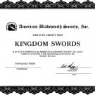 Bladesmith Certificate from (ABS)
