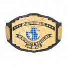 Black Intercontinental Championship Replica Title Belt with Free Carrying Bag