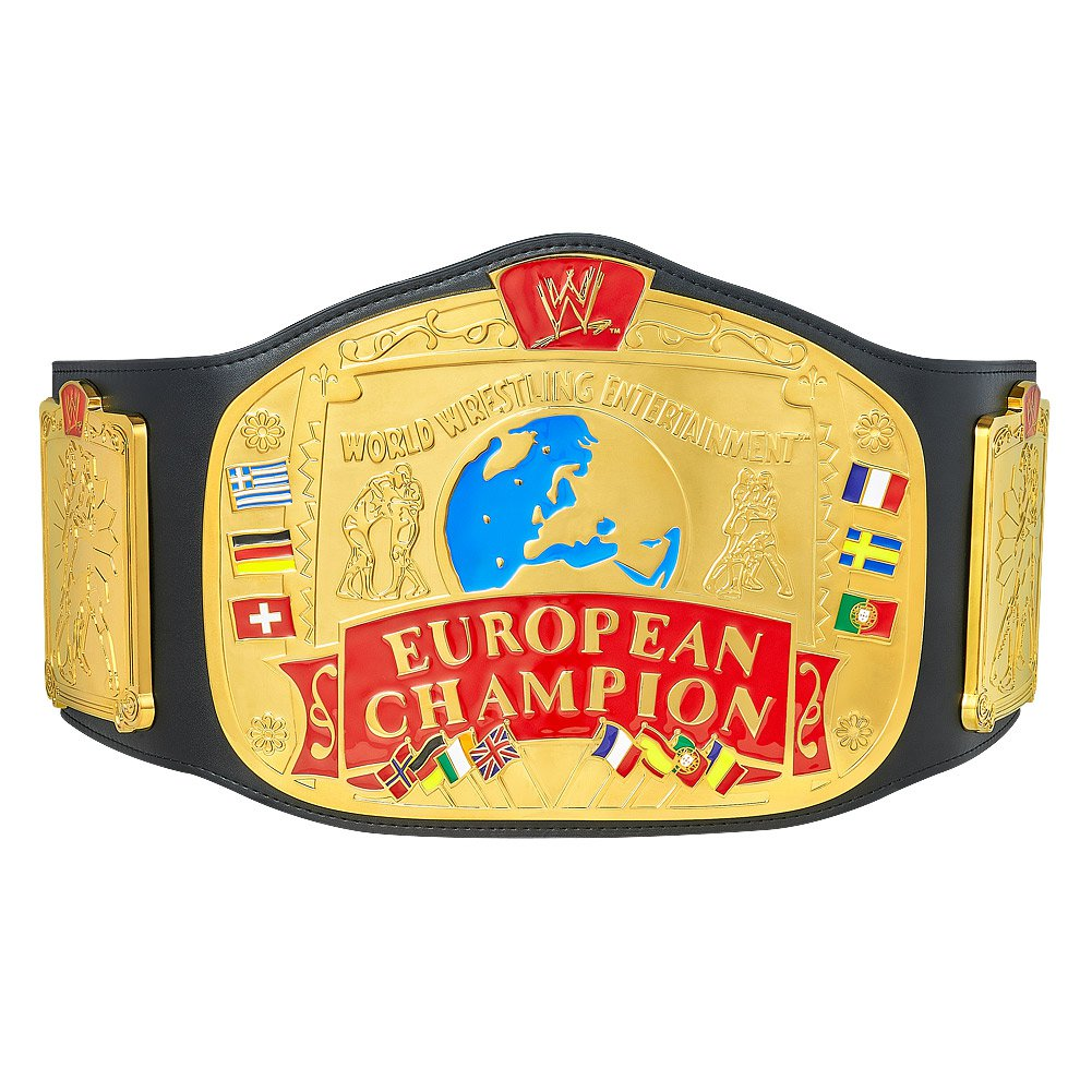 European Championship Title Belt with Free Carrying Bag