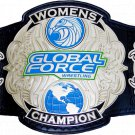 Global Force Wrestling Women Championship Title Belt with Free Pouch Bag